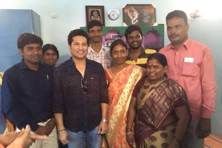 Two years after he adopted it Sachin Tendulkar returns to a transformed Andhra village