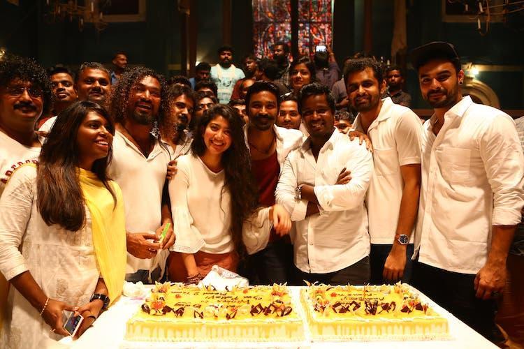 Actor Sai Pallavi celebrates her birthday on the sets of Maari 2