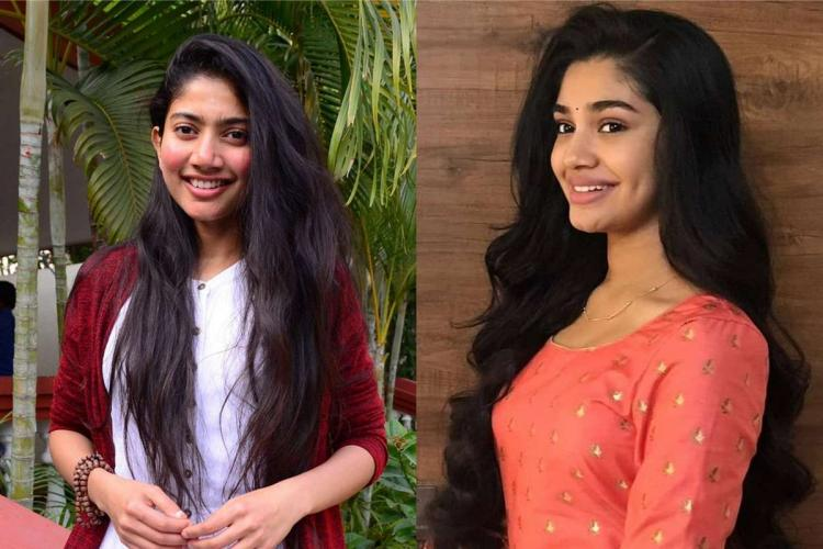 A collage of actors Sai Pallavi and Krithi Shetty