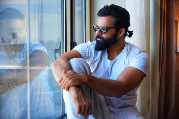 Sai Dharam Tej staring at the window