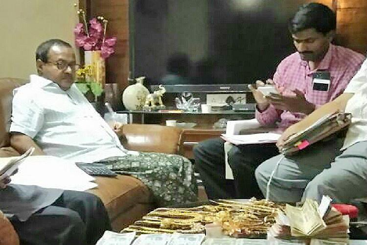 Cash gold and diamond jewellery unearthed in raids on former senior Andhra bureaucrat