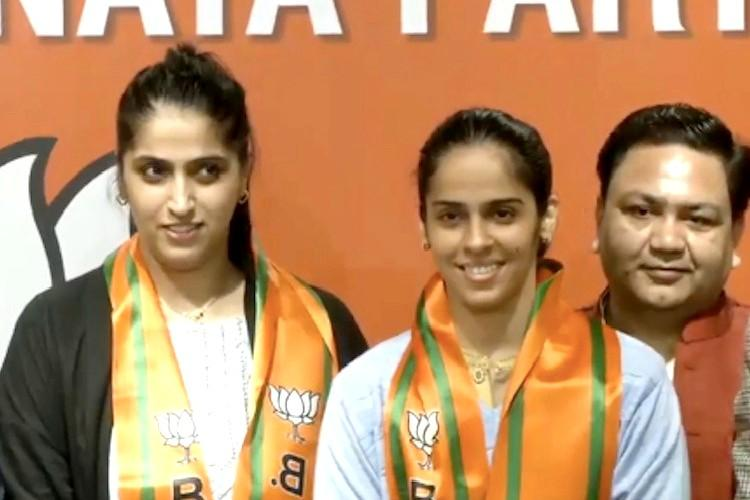 Honour to work with our hardworking PM Saina Nehwal on joining BJP