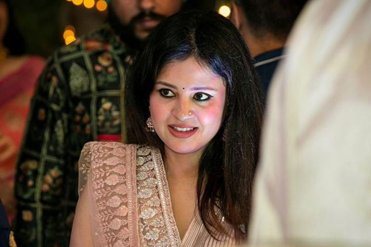 A file image of Sakshi Dhoni wife of Mahendra Singh Dhoni wearing a traditional dress