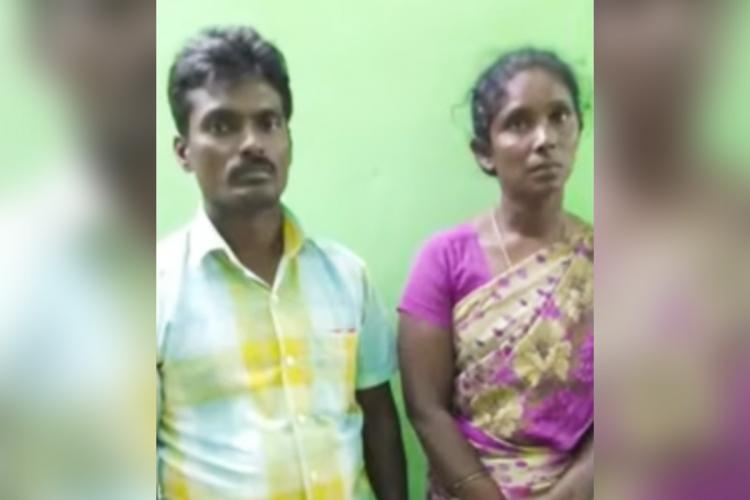 Renukas parents - father Subramani and mother Selvi - who forced their daughter to undergo abortion