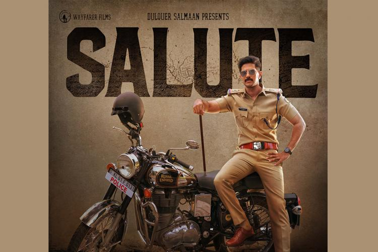 Actor Dulquer Salmaan is seen as a cop in the first look poster of 'Salute'.
