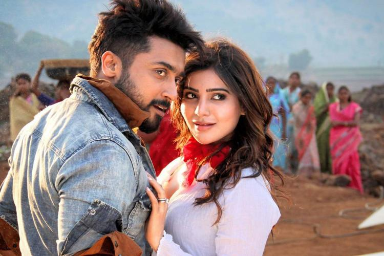 Suriya and Samantha in ek dho theen char song from Anjaan