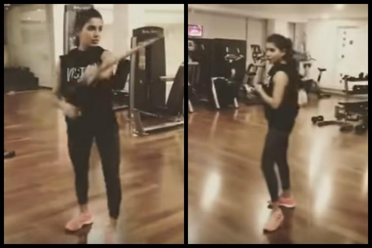 Watch This video of Samantha practicing Silambam is going viral on the internet