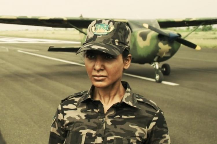 Samantha is seen as a rebel operative and an aircraft is seen in the backdrop