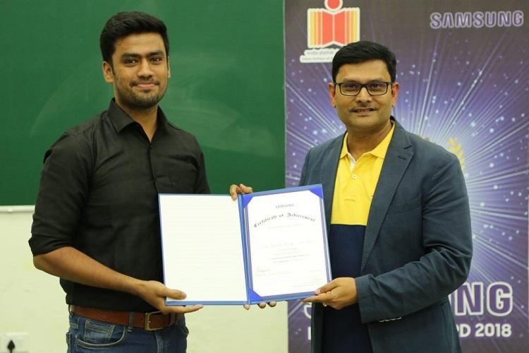 IIT-Hyd students win Samsung Innovation Awards for bot that detects oral cancer
