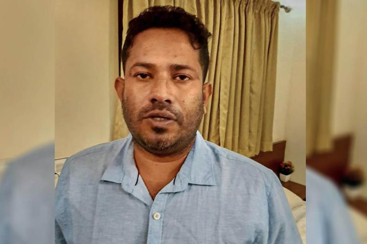 Gold smuggling accused Sandeep Nair while caught from a hotel in Bengaluru