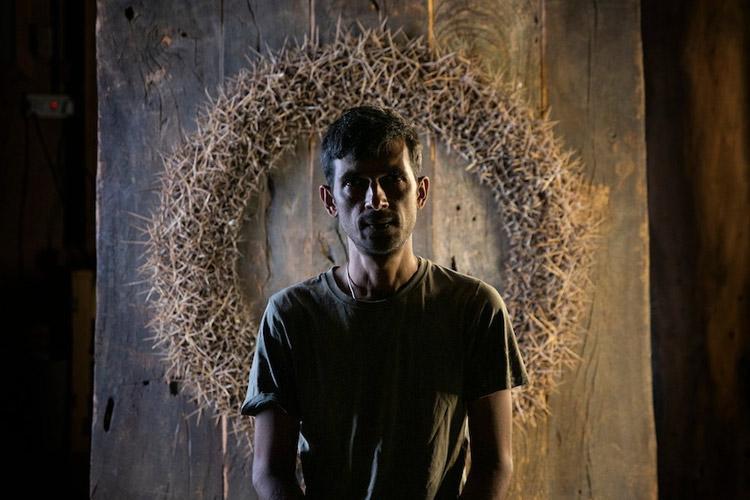 Using thorns and reclaimed wood artist Sandilya Theuerkauf debuts in Bengaluru