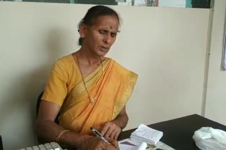 Trans woman and entrepreneur Sangeetha at the trans restaurant in Coimbatore