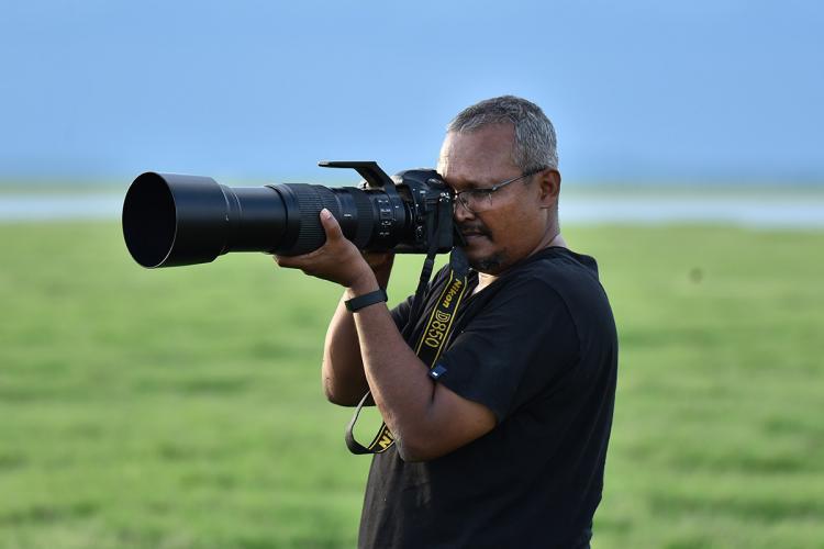Meet the man who photographed blackbuck Indian wolf flamingos in Telangana
