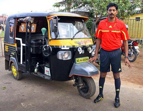 Hes an auto-driver also one of Indias six FIFA certified referees