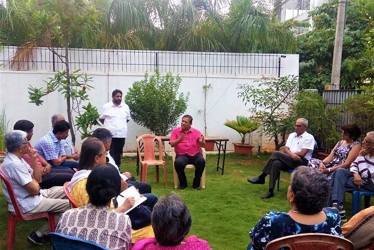 Santosh Hegde endorses AAPs Prithvi Reddy attacks BJP and Congress