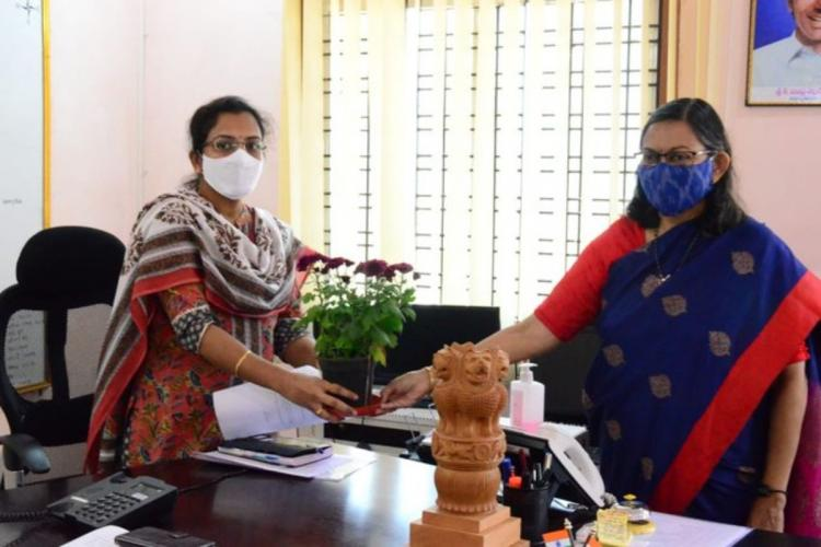 Late Col Santosh Babus wife takes charge as trainee Collector in Telangana