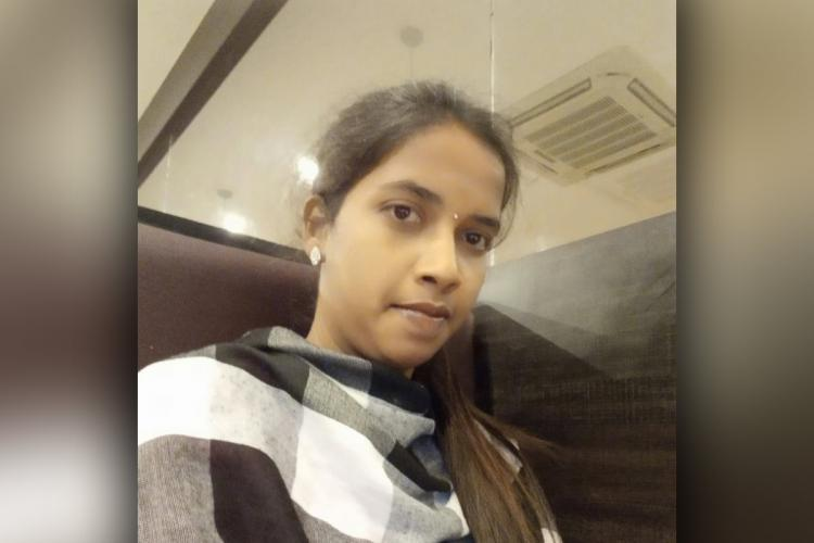 Saranya who succumbed by slipping into a tank