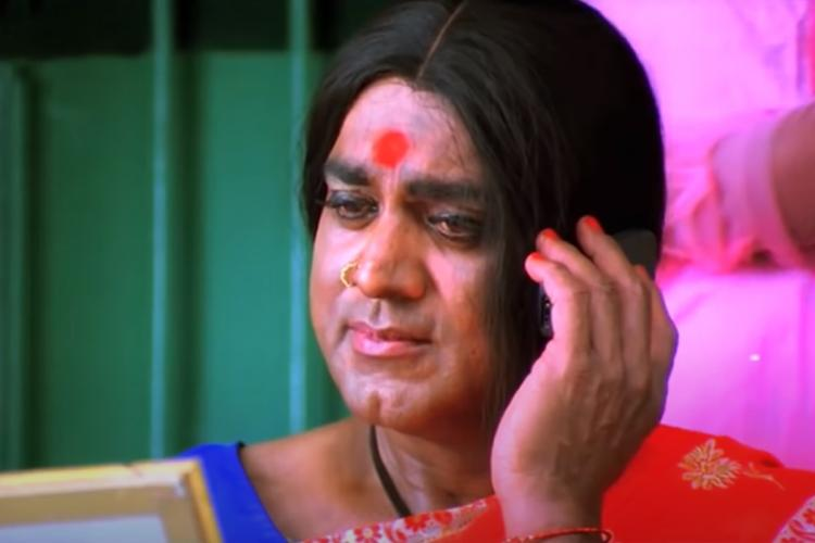 Sarathkumar as trans woman Kanchana in Muni 2 film
