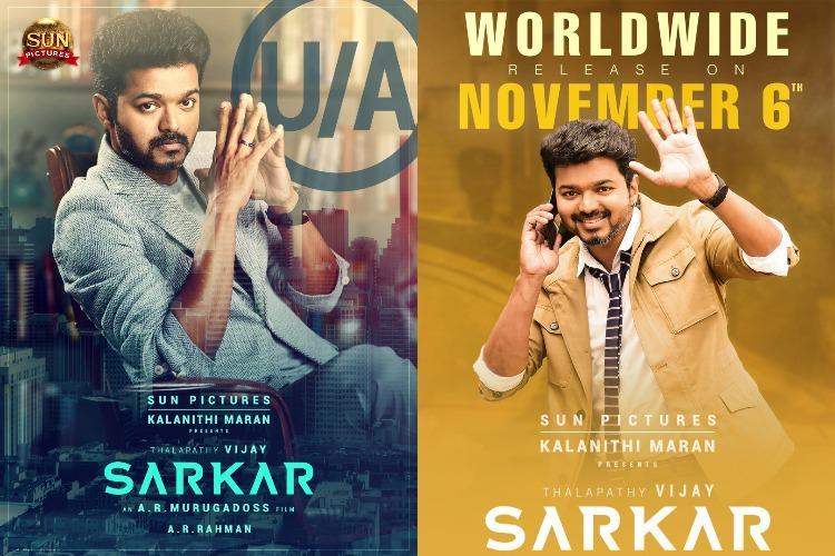 Sarkar gets UA certification film gears up for Deepavali release