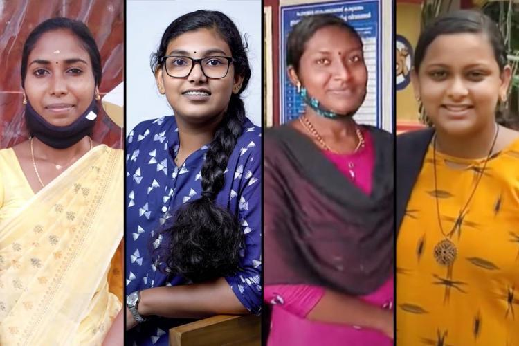 Collage of Radhika Saruthi Anas and Reshma who head Kerala local bodies
