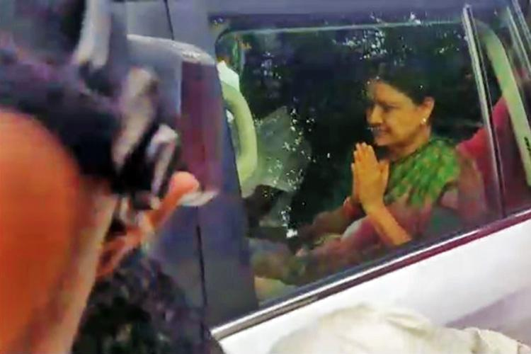 VK Sasikala gets parole to meet ailing husband Natarajan no other meetings allowed