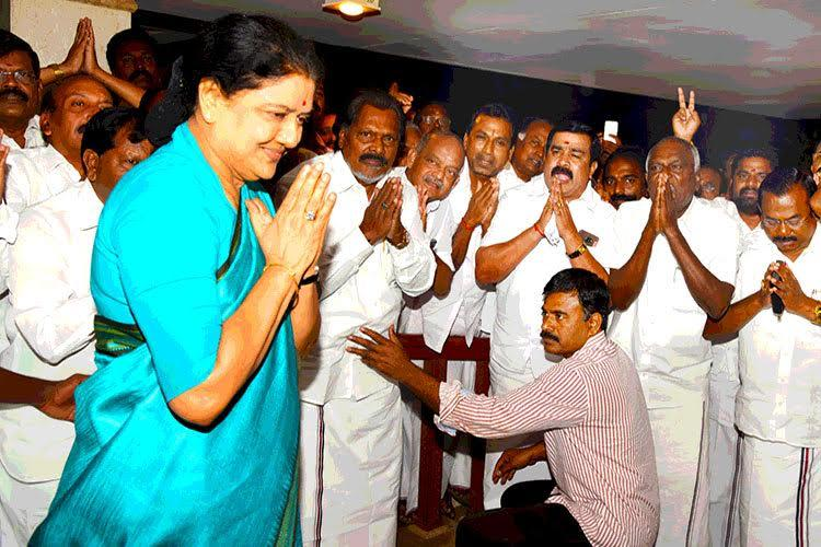 Singam 129 Sasikala says shes a little lion tells MLAs to stick together