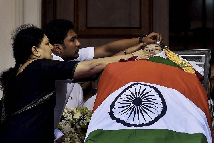 Jayalalithaas hospital pics withheld for sake of her dignity says Sasikalas nephew