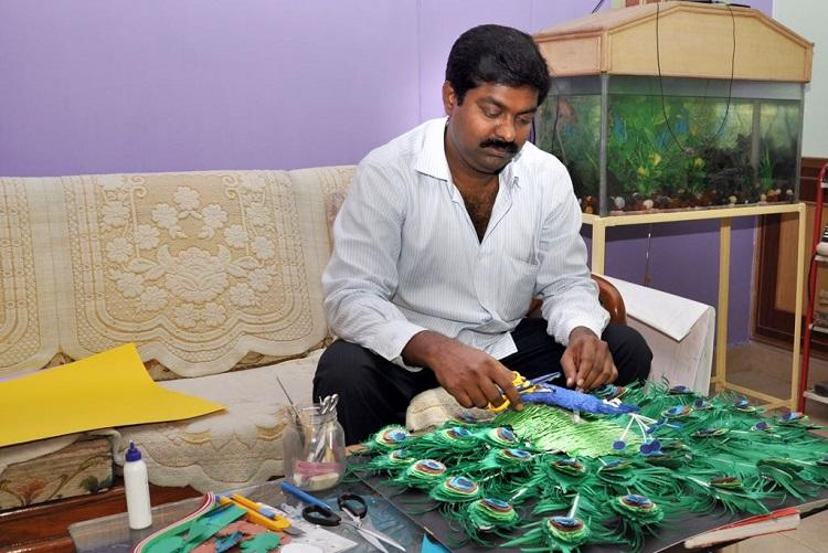 For the love of art Meet the Vizag man who makes beautiful sculptures using paper