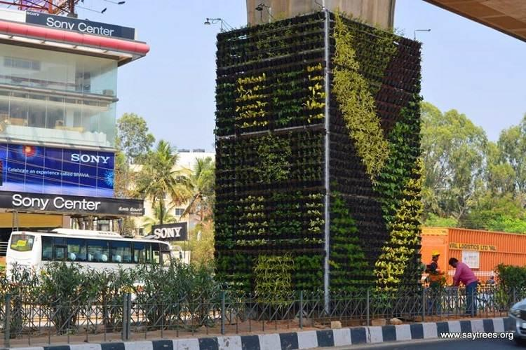 Bengaluru now has a vertical garden to help tackle increasing pollution