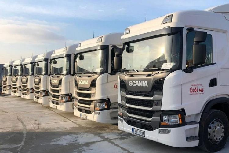 File photo of trucks built by Scania