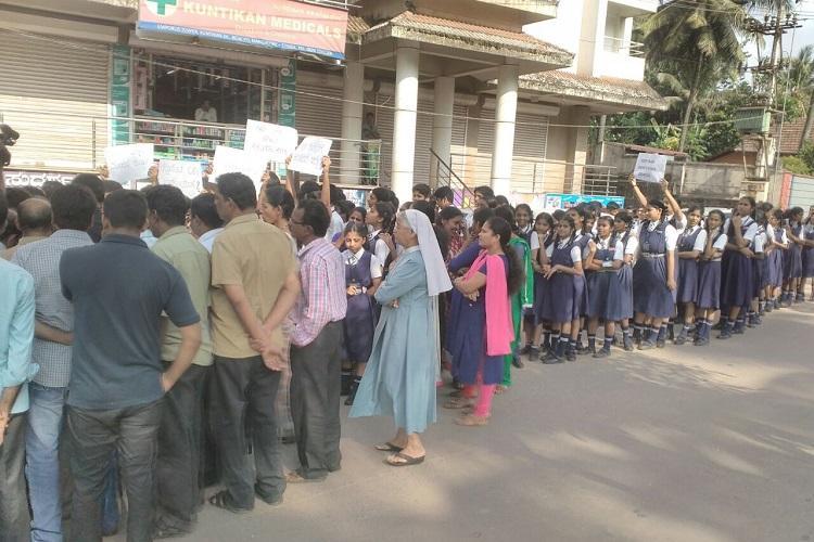 Mangaluru School kids raise stink over bar close to school