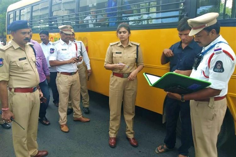 As schools re-open in Hyderabad over 500 vehicles ferrying students booked