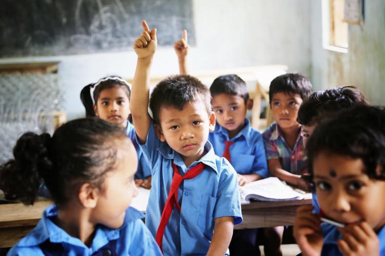 School students inside a classroom