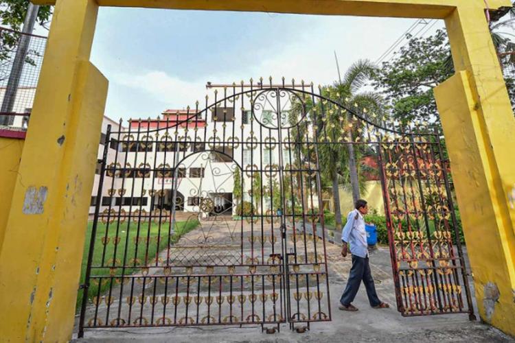 Closed school gates