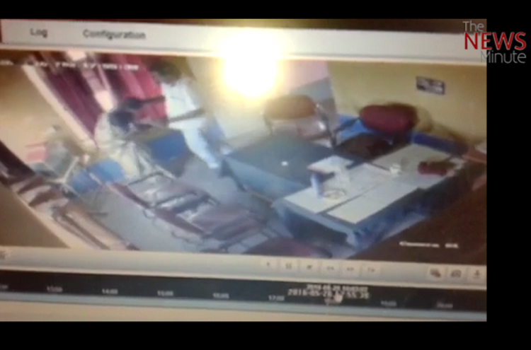 CCTV footage shows Ktaka panchyat president attempting to rape a woman