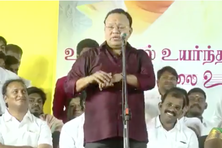 In crass show of insensitivity actor Radha Ravi mocks kids with disabilities in public speech