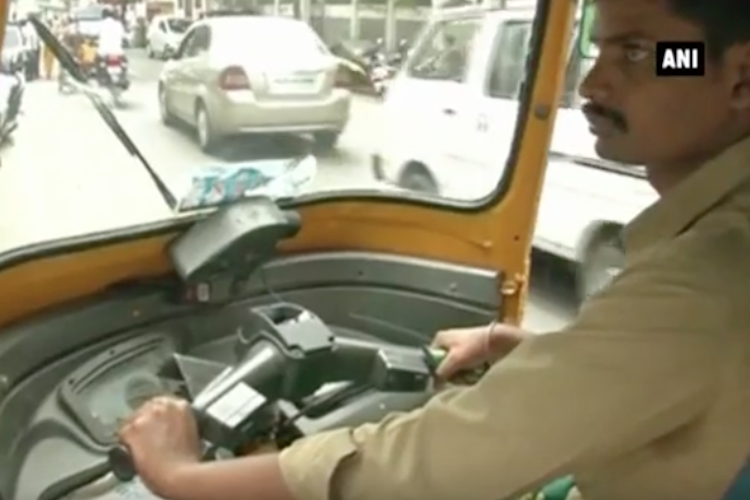 Watch This TN auto driver is a postgrad in Tamil literature who ferries kids for free