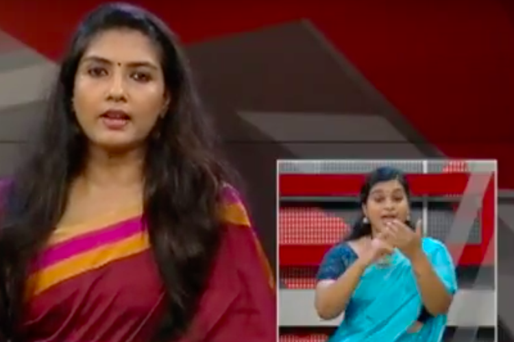 Malayalam channel features sign language translations of news for a week