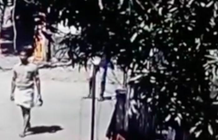 CCTV footage confirms RSS worker threw bomb at Nedumangad police station in Kerala