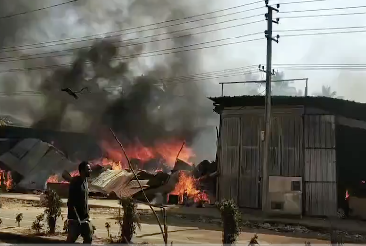 Fire breaks out at furniture store in Bengaluru goods worth lakhs destroyed