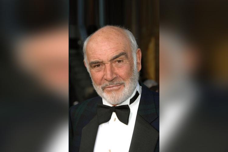 Sean Connery wearing a tuxedo