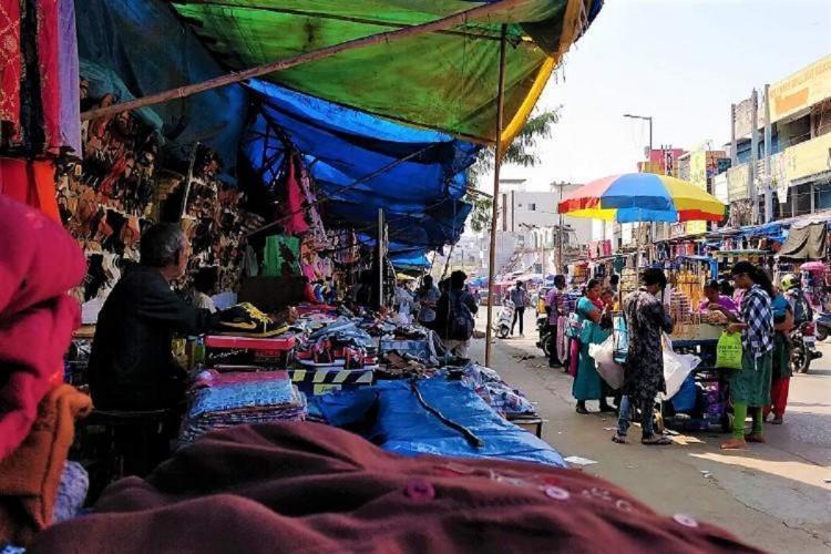A street vendor near the Secunderabad railway station