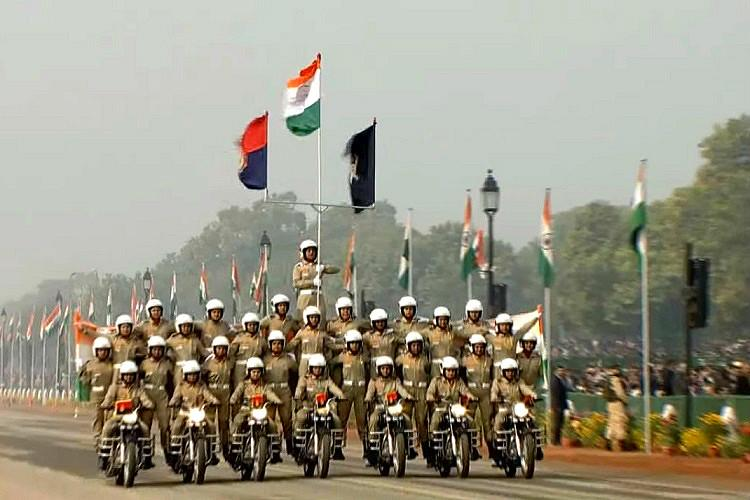 Photos: BSF women motorcycle team's Republic Day performance