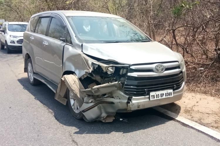 3-yr-old girl dies as Telangana MLAs car rams bike