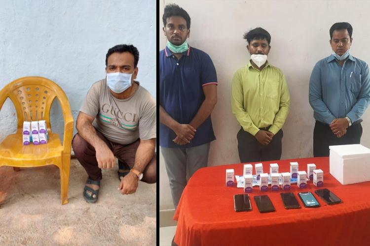 Those arrested for selling Remdesivir vials in the black market