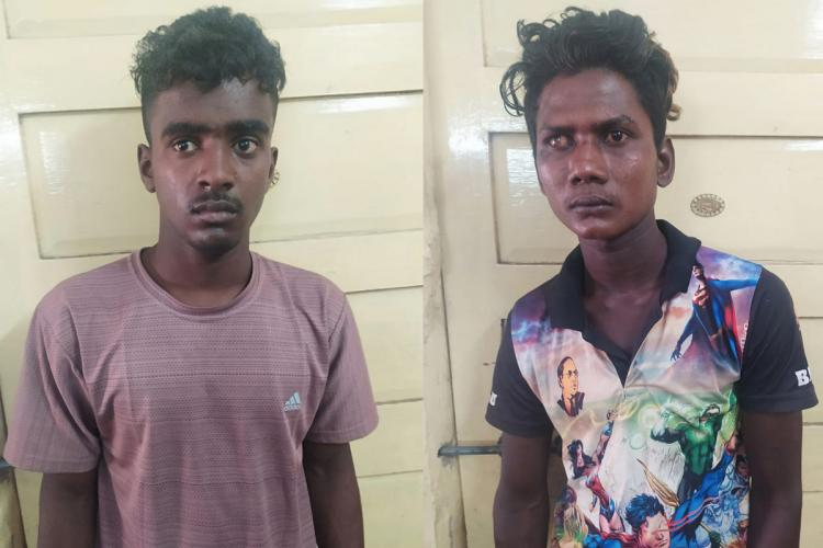 ACCUSED PERSONS GANAPATHI LEFT AND AAKASH RIGHT