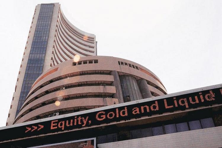 The Bombay Stock Exchange building in Mumbai
