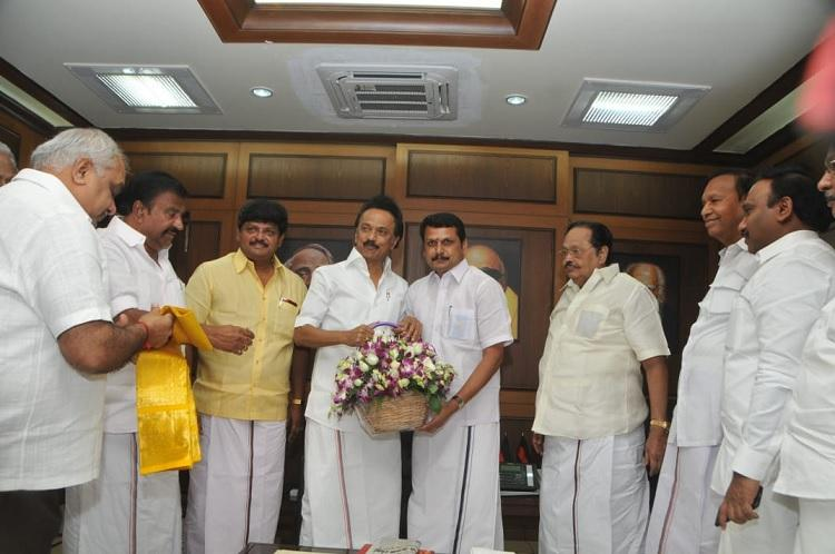 DMK announces candidates to four TN bye-polls Senthil Balaji gets ticket
