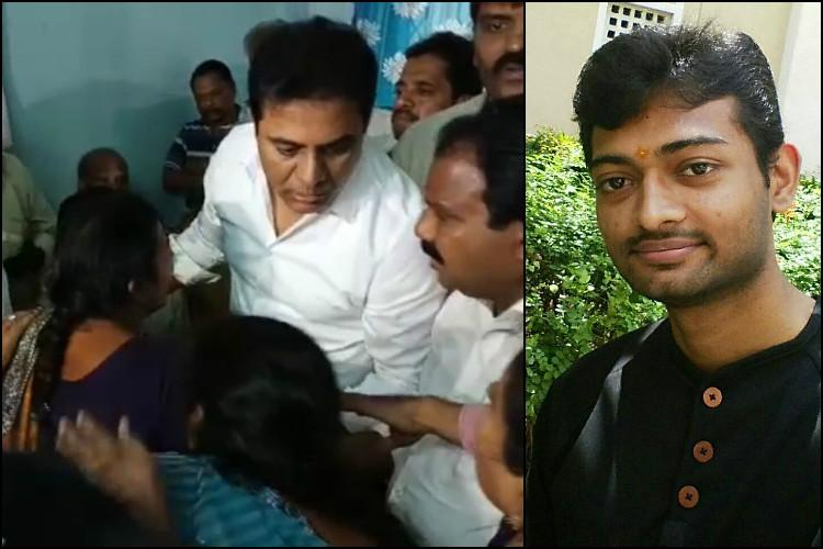 Telangana minister KTR meets family of Sharath Koppula student who was shot in US