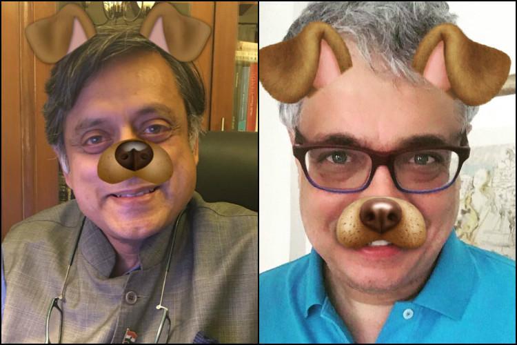 After Modi meme lands AIB in hot water Derek OBrien Shashi Tharoor post dog filter pics